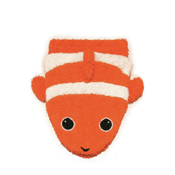 Organic Clown Fish Children's Flannel Wash Mitt