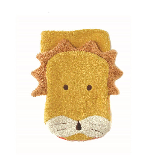 Organic Lion Children's Flannel Wash Mitt