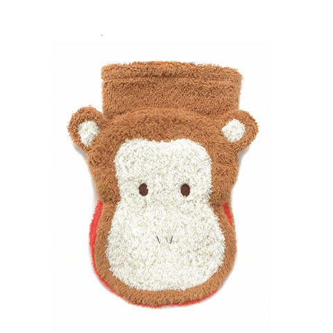 Organic Monkey Children's Flannel Wash Mitt