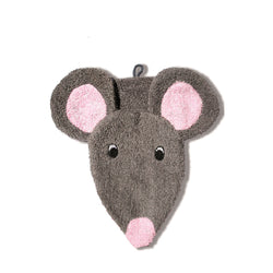 Organic Mouse Children's Flannel Wash Mitt