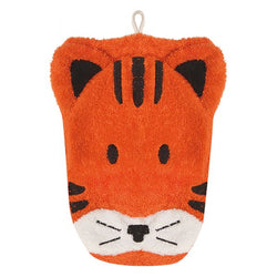 Organic Tiger Children's Flannel Wash Mitt