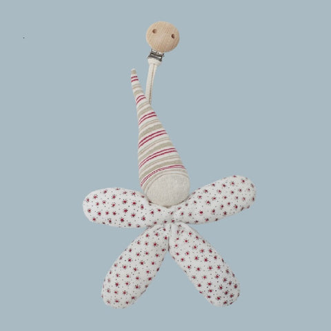 A beautiful cuddle doll with clip. Your perfect organic baby soft toy. All our Efie toys are non-toxic toys and are your perfect organic new baby gift! German eco-friendly toys which are fair trade and natural baby toys and organic baby dolls. Environmentally friendly eco baby toys made to the highest GOTS standards.