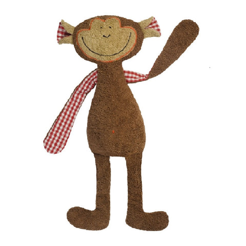 A brown monkey cuddly toy. Your perfect organic baby soft toy. All our Efie toys are non-toxic toys and are your perfect organic new baby gift! German eco-friendly toys which are fair trade and natural cuddly toys and organic dolls. Environmentally friendly eco baby toys made to the highest GOTS standards.