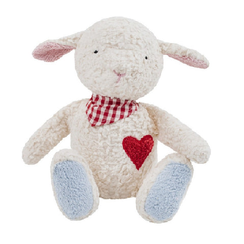 A lovely soft and white sheep or lamb cuddly toy. Your perfect organic baby soft toy. All our Efie toys are non-toxic toys and are your perfect organic new baby gift! German eco-friendly toys which are fair trade and natural cuddly toys and organic dolls. Environmentally friendly eco baby toys made to the highest GOTS standards.