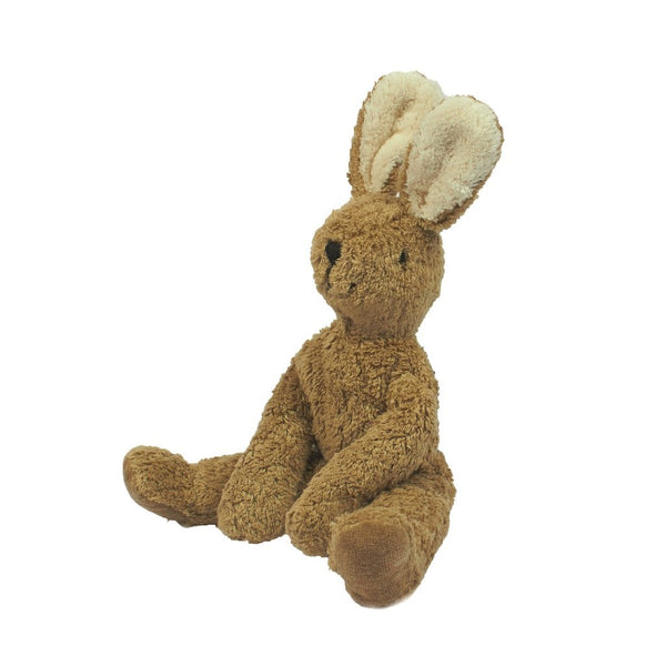 a beautiful organic bunny soft toy. perfect plastic free baby gift.