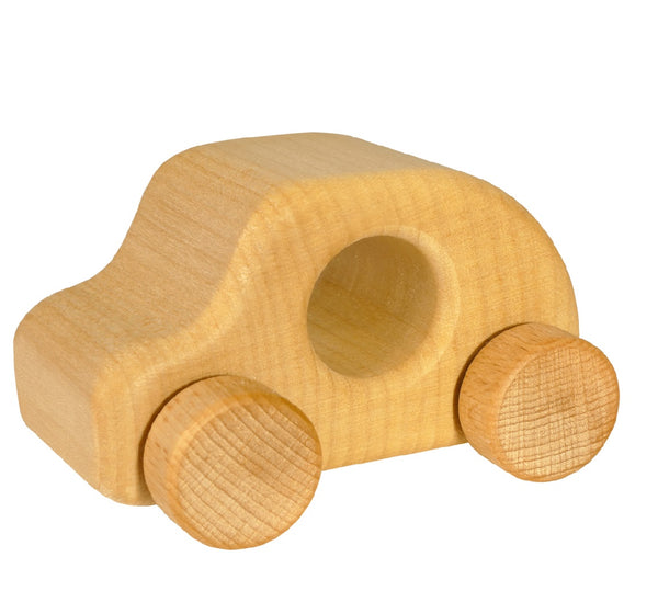 A beautiful unpainted natural eco-friendly wooden car. Your perfect natural baby toy. All our Sternengasse wooden toys are non-toxic untreated wooden toys and if you like organic toys you will love these perfect natural baby gifts! German eco-friendly green toys which are fair trade, made in Europe from sustainably sourced EU wood. Environmentally friendly handmade eco baby toys made to the highest standards. Customers who like Waldorf and Montessori toys often like unpainted toddler toys.