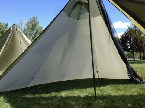 (1/2 LINER ONLY) For Seek Outside 6-man Tipi