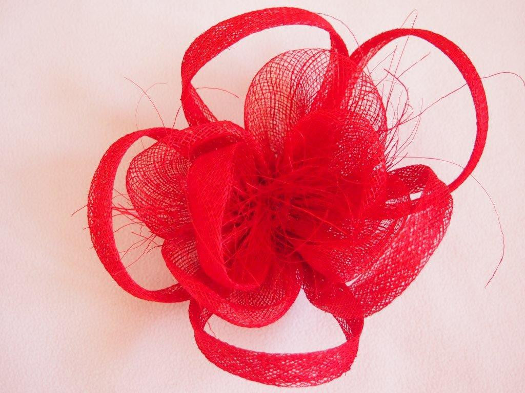 """Alouette"" Fascinator-Fascinators-Fascinators Direct Online-Red-Fascinators Australia"