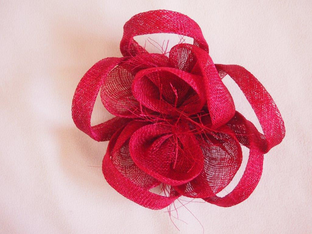 """Alouette"" Fascinator-Fascinators-Fascinators Direct Online-Burgundy-Fascinators Australia"
