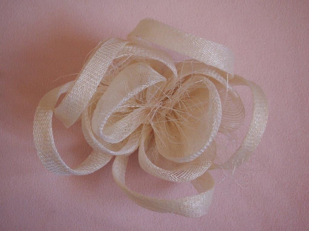 """Alouette"" Fascinator-Fascinators-Fascinators Direct Online-Ivory-Fascinators Australia"