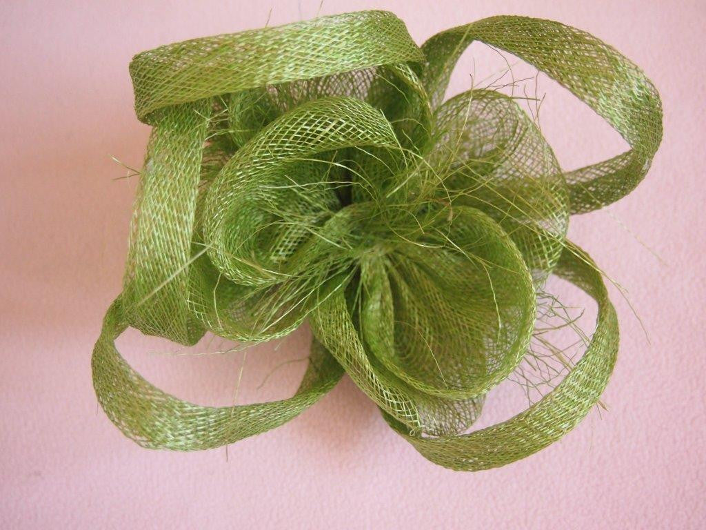"""Alouette"" Fascinator-Fascinators-Fascinators Direct Online-Green-Fascinators Australia"