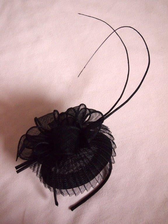 """Madame Butterfly"" Black Fascinator-Fascinators-Fascinators Direct Online-Fascinators Australia"
