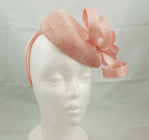 "Image of ""Aisling"" Blush Pink Fascinator"