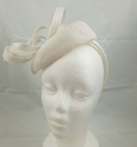 "Image of ""Aisling"" White Fascinator"