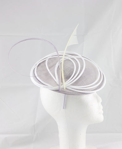 "Image of ""Armada"" Light Purple and White Fascinator"