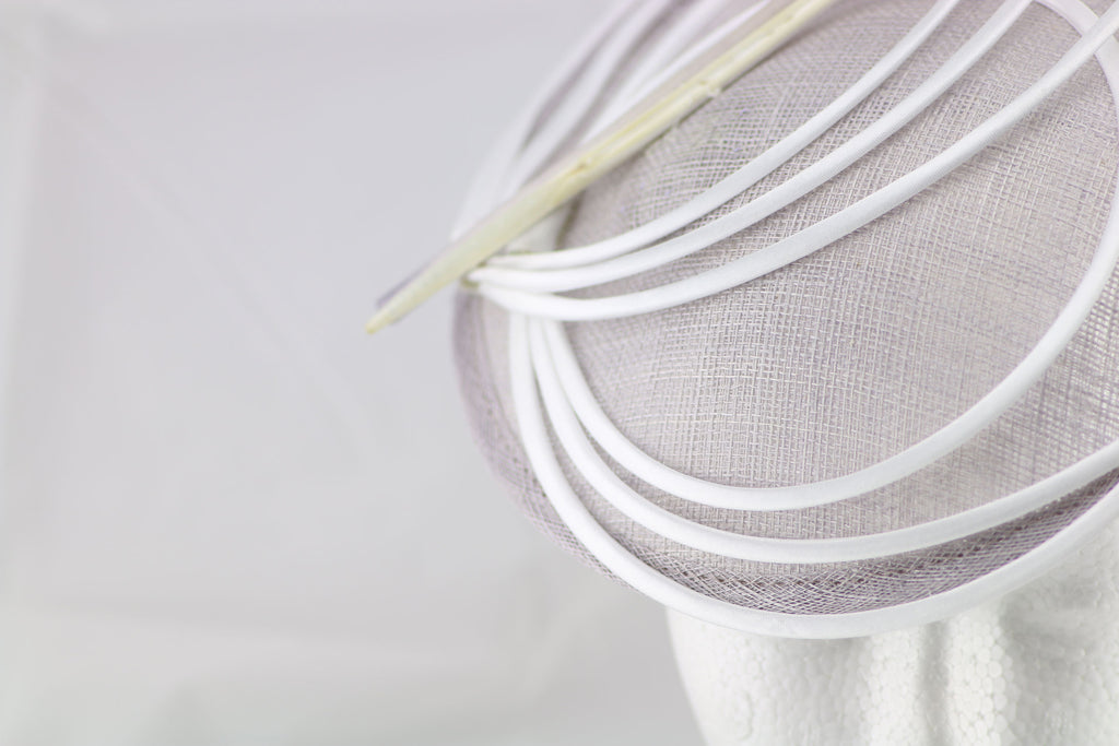 """Armada"" Light Purple and White Fascinator"
