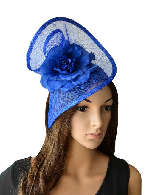 'Zara' Blue Fascinator-Fascinators-Fascinators Direct Online-Fascinators Australia