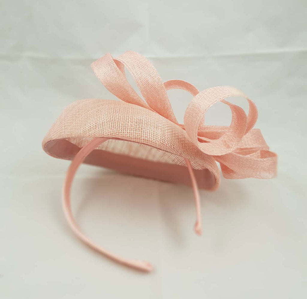 """Aisling"" Blush Pink Fascinator"