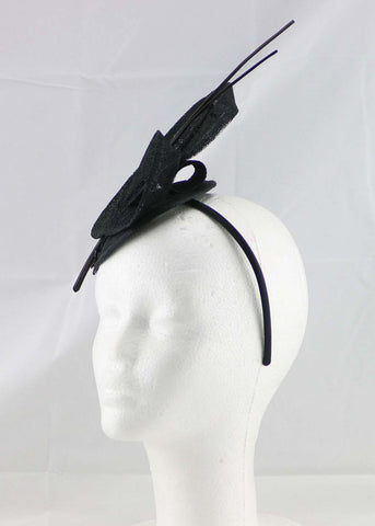 "Image of ""Brittany"" Black Fascinator"