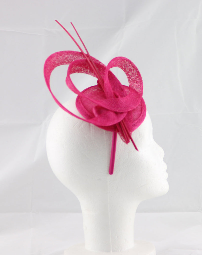 """Brittany"" Pink Fascinator"