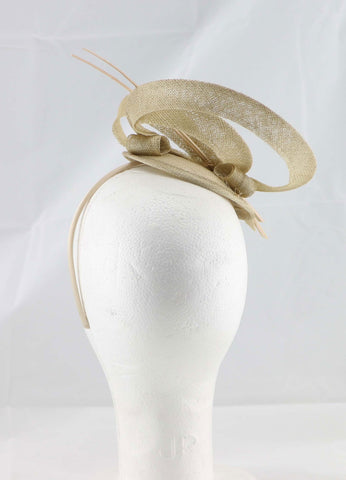 "Image of ""Brittany"" Gold Fascinator"
