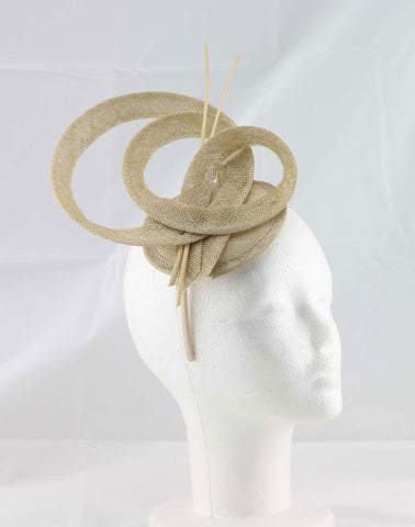 """Brittany"" Gold Fascinator"