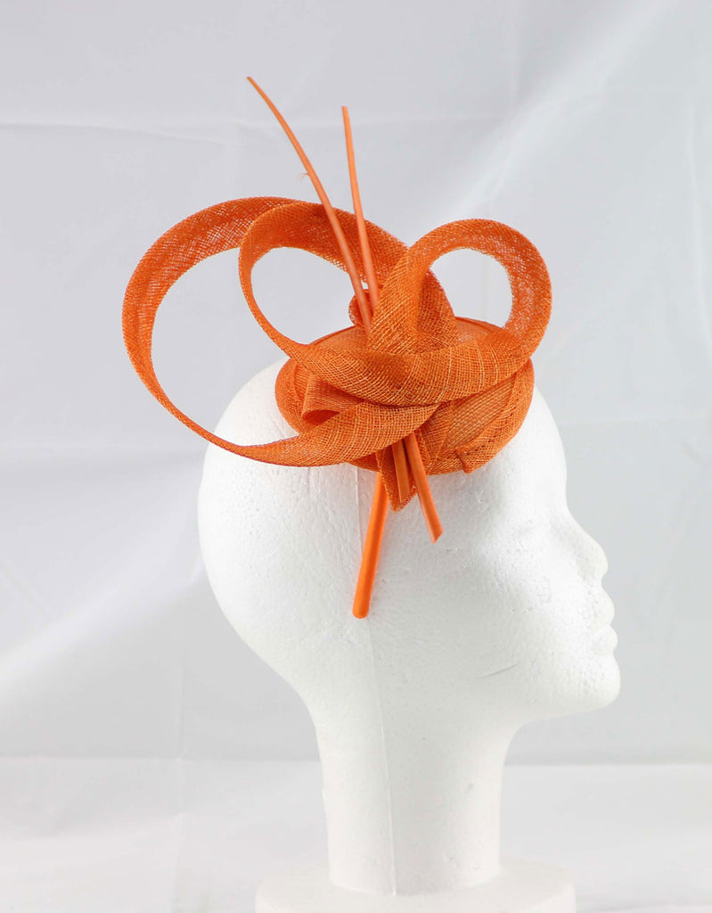 """Brittany"" Orange Fascinator"