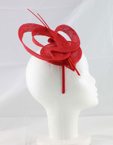 "Image of ""Brittany"" Red Fascinator"