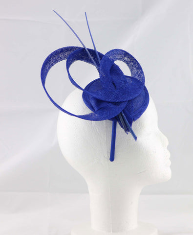 "Image of ""Brittany"" Royal Blue Fascinator"