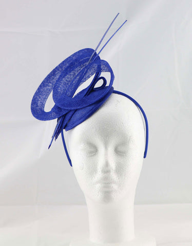 """Brittany"" Royal Blue Fascinator"