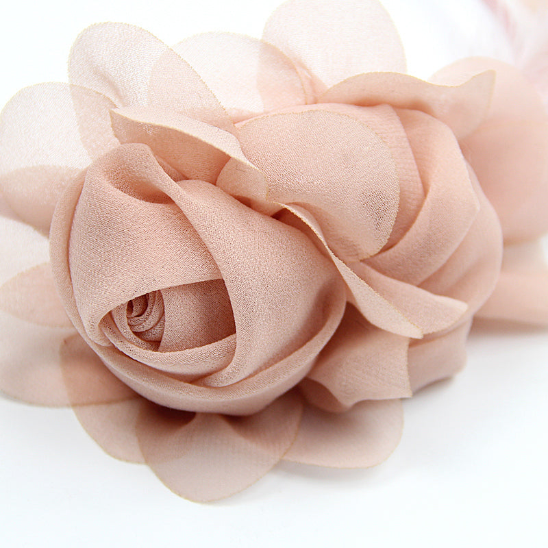 Chiffon Petite' Chiffon Light Green Fascinator Headband