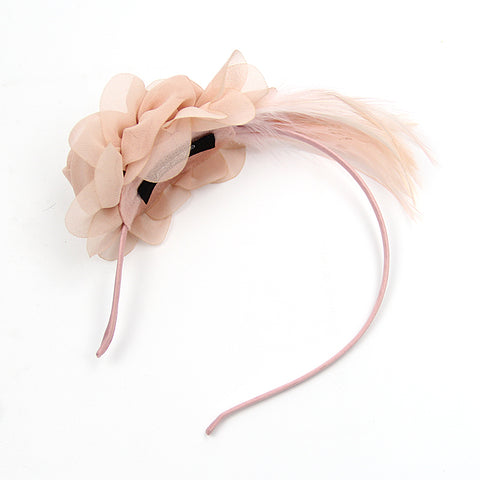 Image of Chiffon Petite' Chiffon Light Green Fascinator Headband