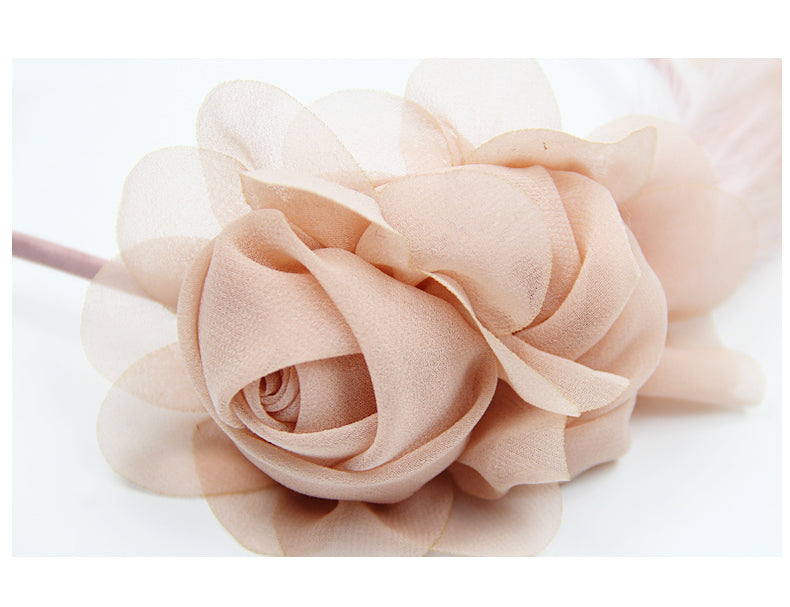 'Chiffon Petite' Chiffon Light Pink Fascinator Headband