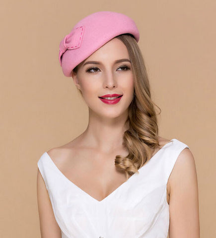 """Emily"" Pink Vintage Fascinator-Hat-Fascinators Direct Online-Fascinators Australia"