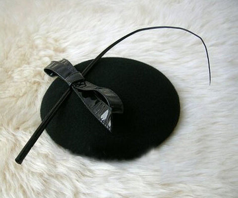"Image of ""Gabrielle"" Black Vintage Fascinator-Fascinator-Fascinators Direct Online-Fascinators Australia"