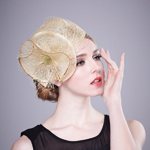 Gold Dust - Stunning Gold Fascinator-Fascinators-Fascinators Direct Online-Fascinators Australia