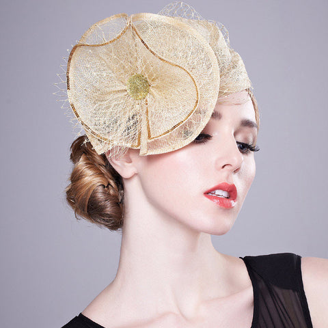 Image of Gold Dust - Stunning Gold Fascinator-Fascinators-Fascinators Direct Online-Fascinators Australia