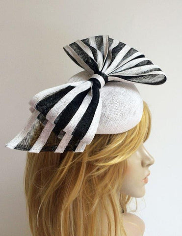"""Marlette"" Black and White Fascinator-Fascinators-Fascinators Direct Online-Fascinators Australia"