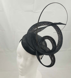 Moya Black Fascinator