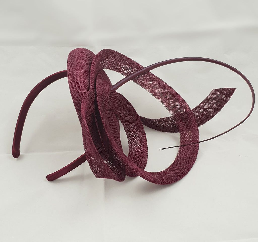 Moya Dark Red / Burgundy Fascinator