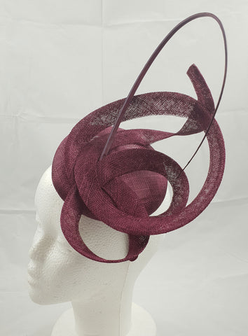 Image of Moya Dark Red / Burgundy Fascinator