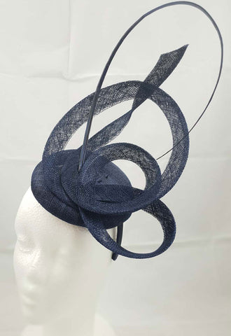Image of Moya Navy Blue Fascinator