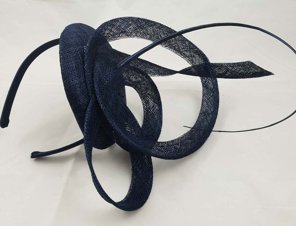 Moya Navy Blue Fascinator