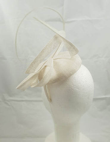 Moya White Fascinator