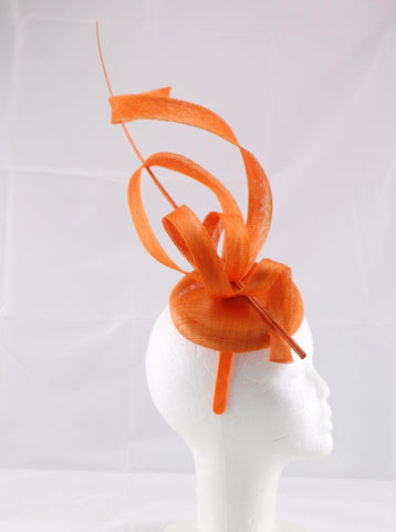 Image of 'Jessica' Orange Large Fascinator Headband
