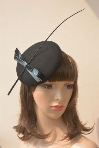 """Gabrielle"" Black Vintage Fascinator-Fascinator-Fascinators Direct Online-Fascinators Australia"