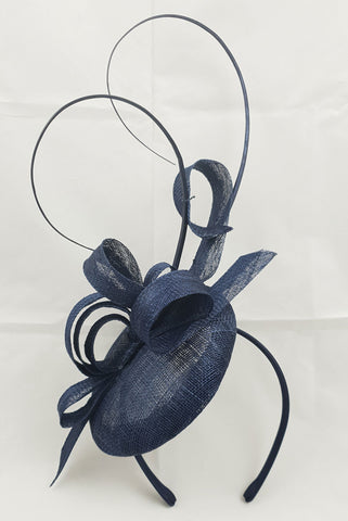 Image of Sara Navy Blue Fascinator