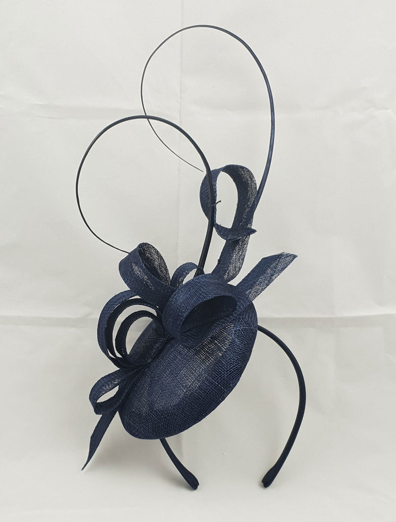Sara Navy Blue Fascinator
