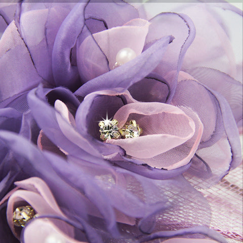 'Fleur De Lis' Light Chiffon Purple Fascinator Headband