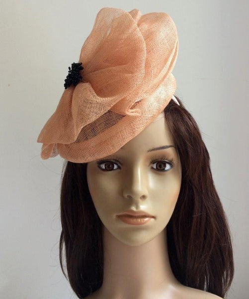"""Tami"" Beige Fascinator"